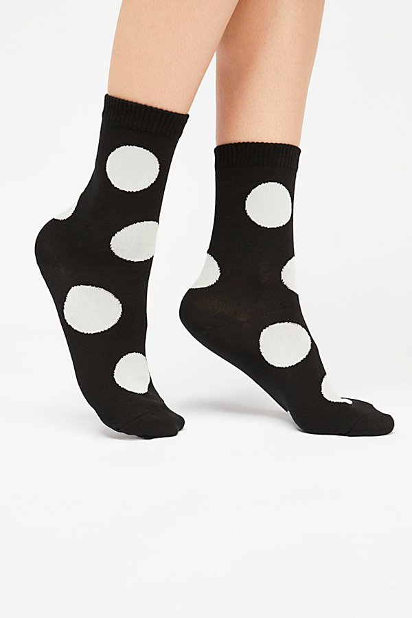 Slide View 2: Rie Polka Dot Crew Sock