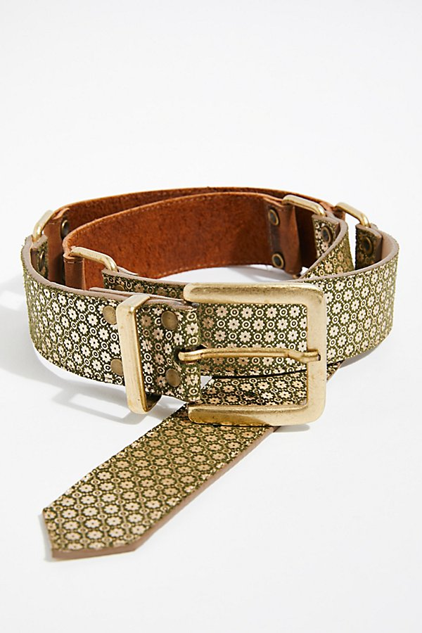 Slide View 2: Jordan Mosaic Leather Belt