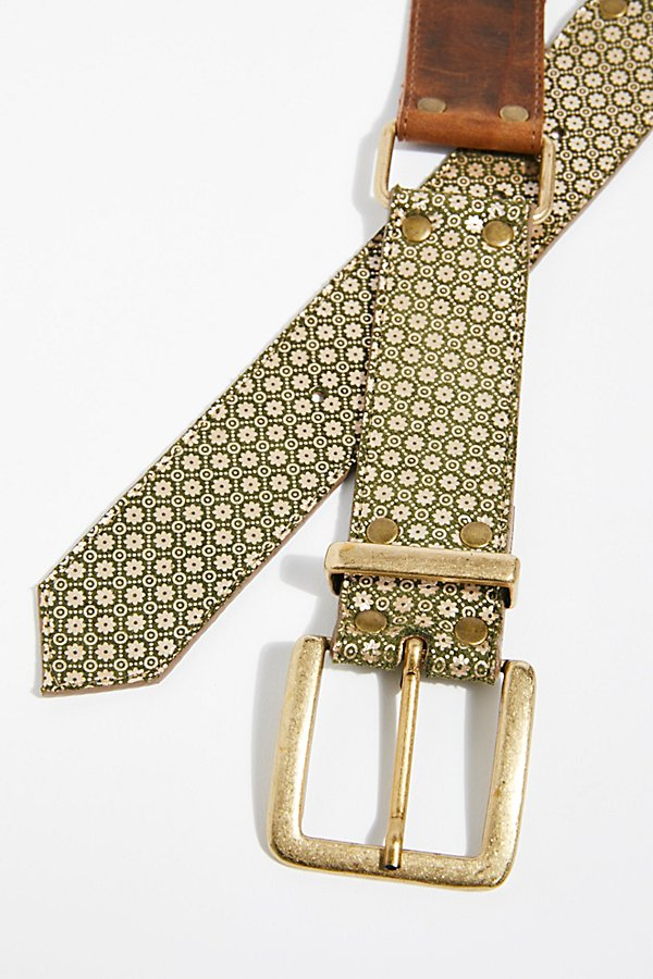 Slide View 3: Jordan Mosaic Leather Belt
