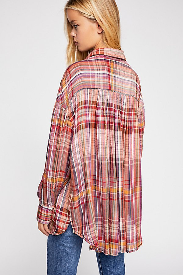 Slide View 2: Rainbow Days Plaid Top