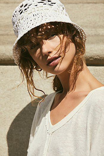 Quinn Crochet Straw Bucket Hat