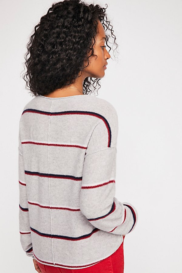 Slide View 3: Forever Striped Cashmere Sweater