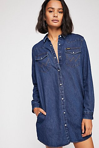 Slide View 1: Wrangler Denim Dress