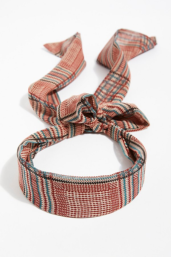 Slide View 2: Plaid Chiffon Tie Back Headband