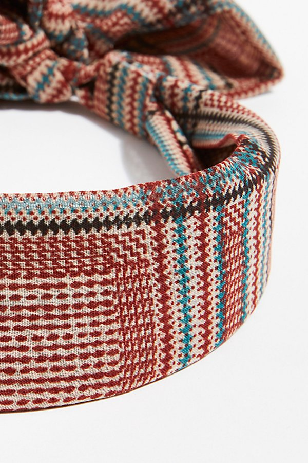 Slide View 3: Plaid Chiffon Tie Back Headband
