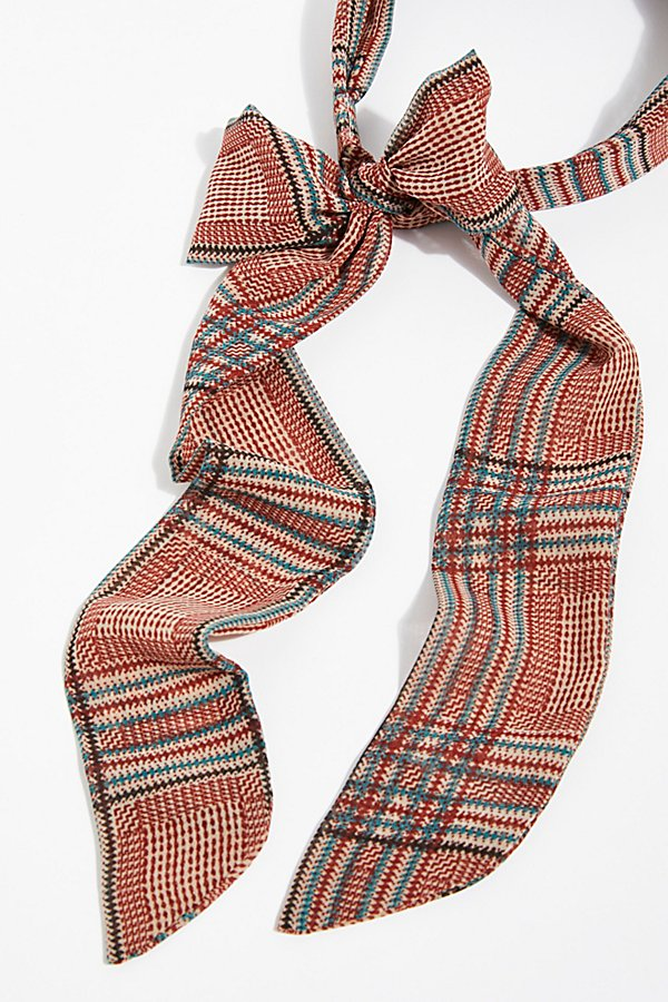 Slide View 4: Plaid Chiffon Tie Back Headband