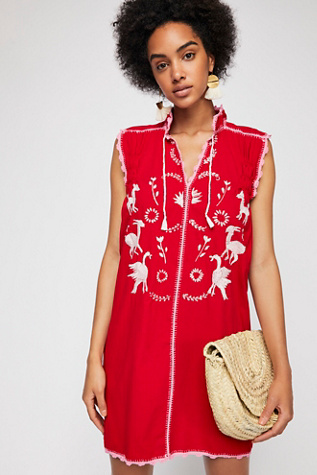 Embroidered Oaxaca Mini Dress by Free People