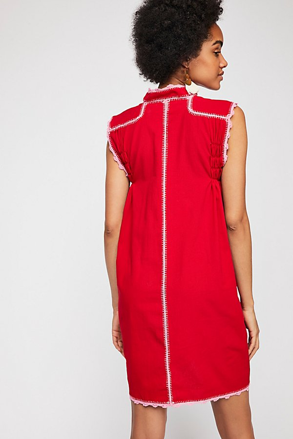 Slide View 2: Embroidered Oaxaca Mini Dress