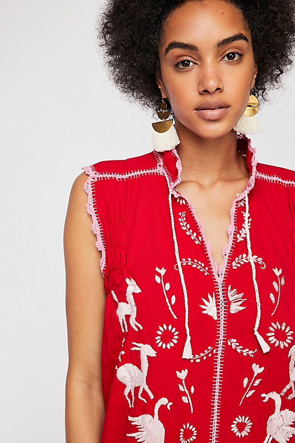 Slide View 3: Embroidered Oaxaca Mini Dress