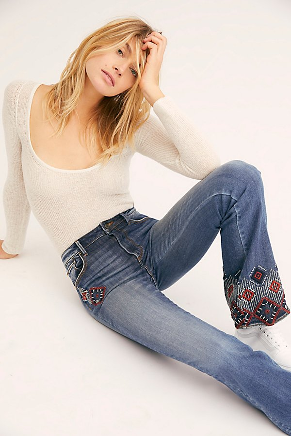 Slide View 1: Driftwood Isabel Embroidered Flare Jeans