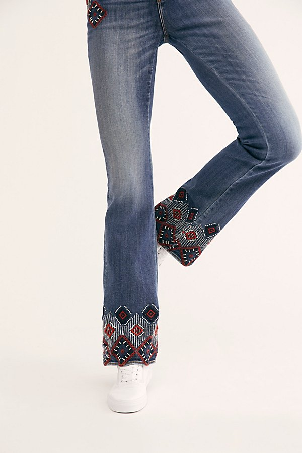 Slide View 4: Driftwood Isabel Embroidered Flare Jeans