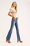 缩略视图 1: Driftwood Isabel Embroidered Flare Jeans