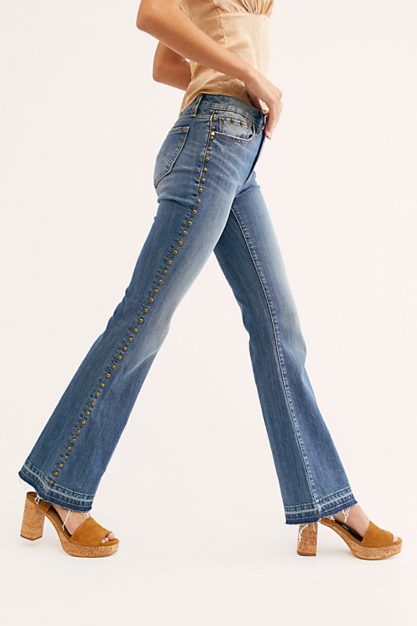 幻灯片视图 3: Driftwood Isabel Embroidered Flare Jeans