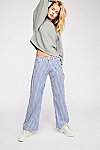 Thumbnail View 2: Zee Gee Why Sweeper Snap Stripe Wide-Leg Jeans