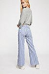 Thumbnail View 3: Zee Gee Why Sweeper Snap Stripe Wide-Leg Jeans