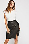 Thumbnail View 1: Belted Leather Skirt