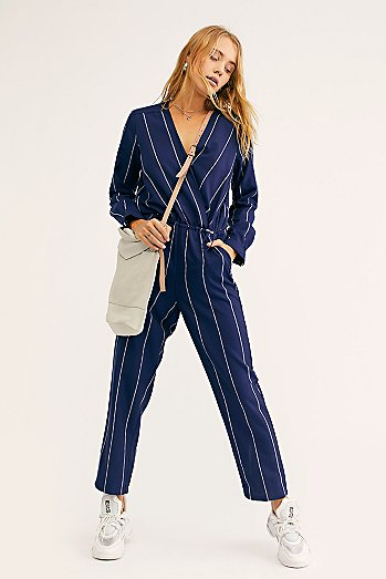 All In 1 Stripe Jumpsuit