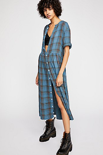 Lou Lou Plaid Midi Dress