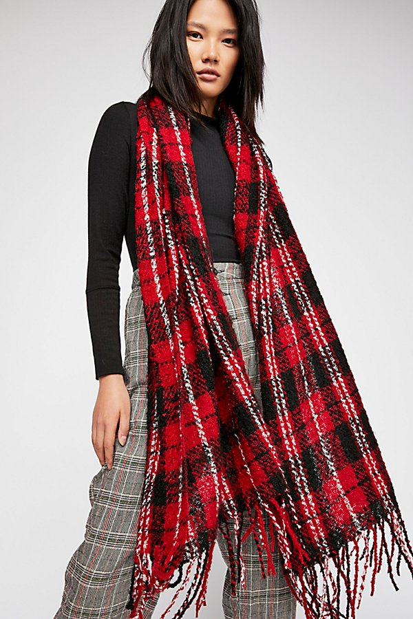 Slide View 2: Emerson Plaid Scarf