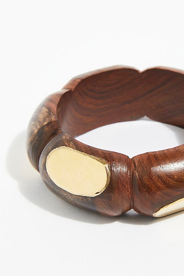 Slide View 2: Oversized Wood Bangle