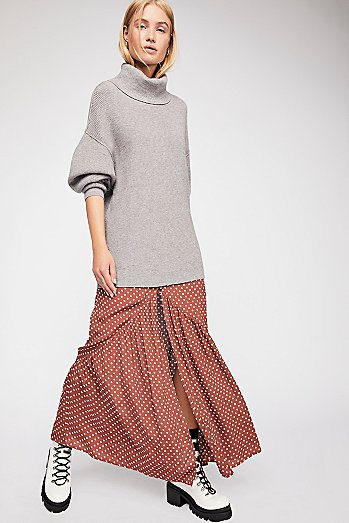 Unbutton Me Midi Skirt