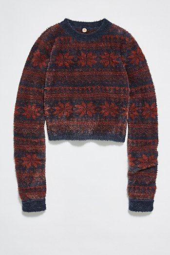 FP One Cropped Fairisle Pullover Jumper