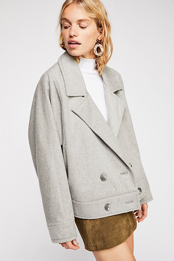 Slide View 1: Bella Dolman Wool Coat