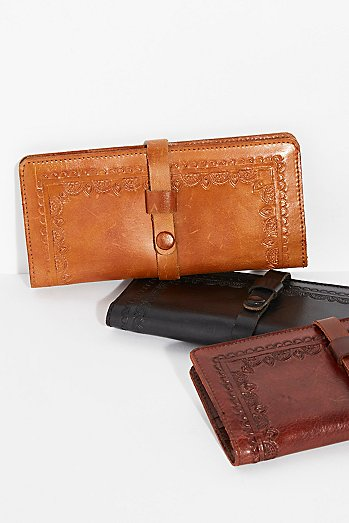 Leather Snap Wallet