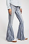 Thumbnail View 3: Denim Super Striped Flare Jeans