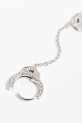 Diamond Handcuff Single Earring