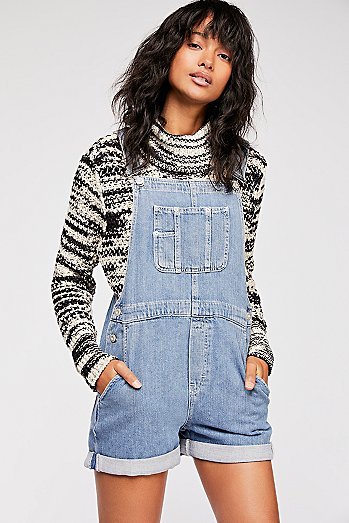 Denim Baggy Shortalls
