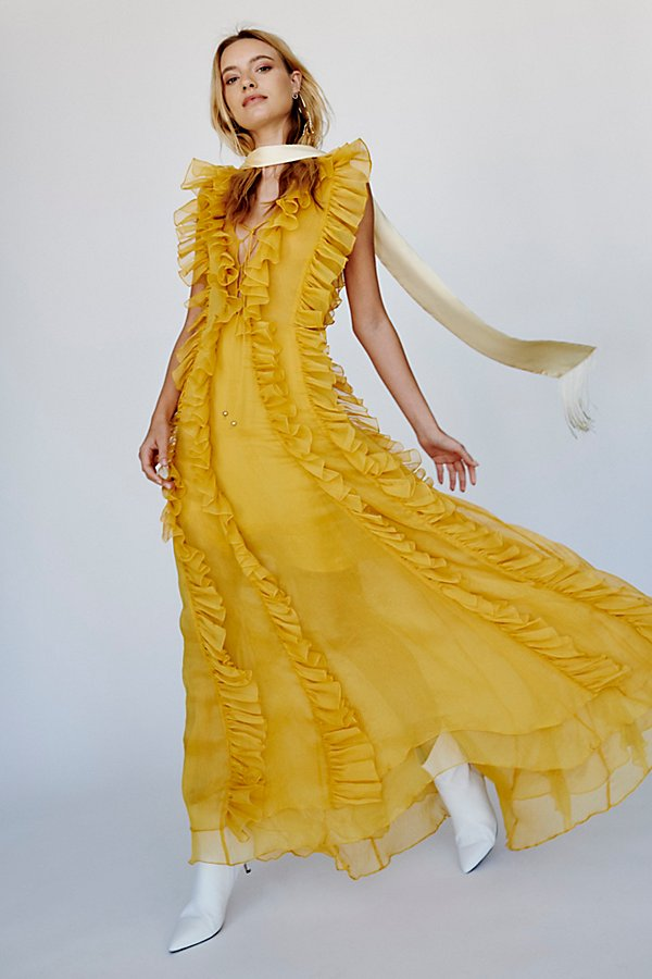 Slide View 1: Ambra Layered Ruffle Maxi Dress