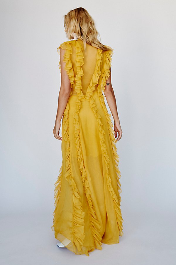 Slide View 4: Ambra Layered Ruffle Maxi Dress