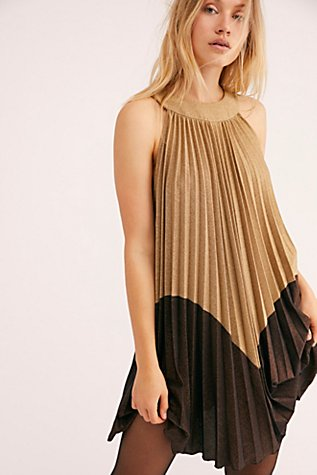 Pleated Love Mini Dress