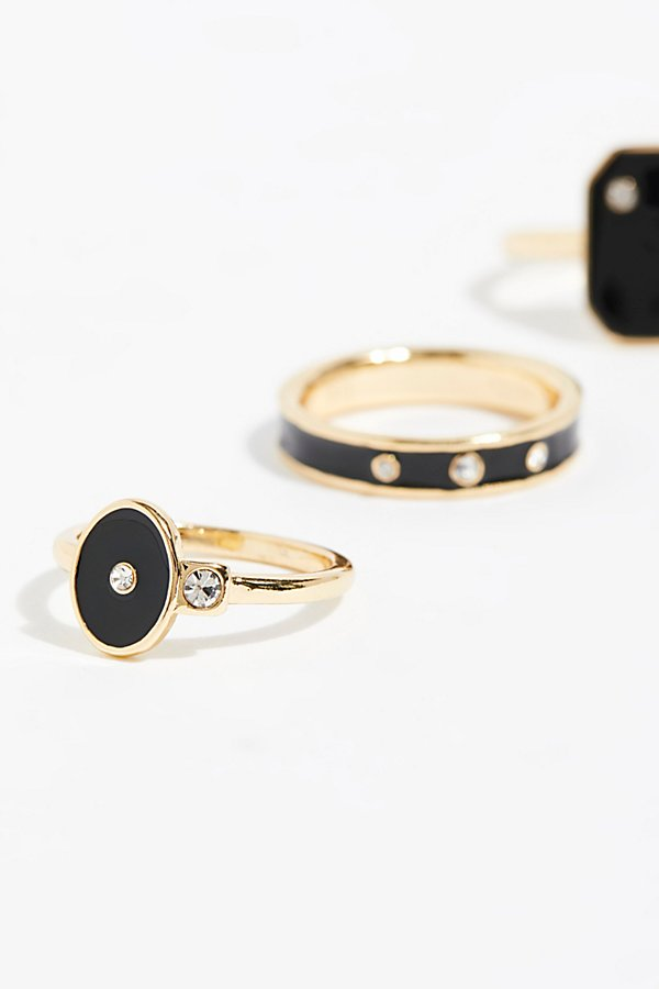Slide View 3: Starry Stud Ring Set