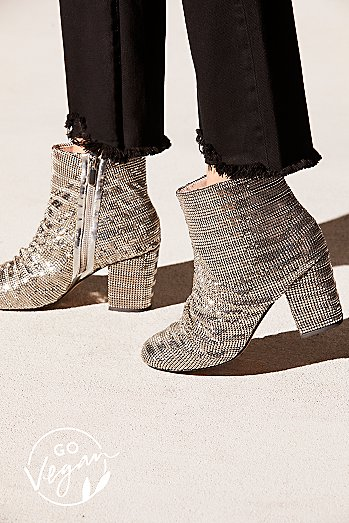 Vegan Bling Heel Boot