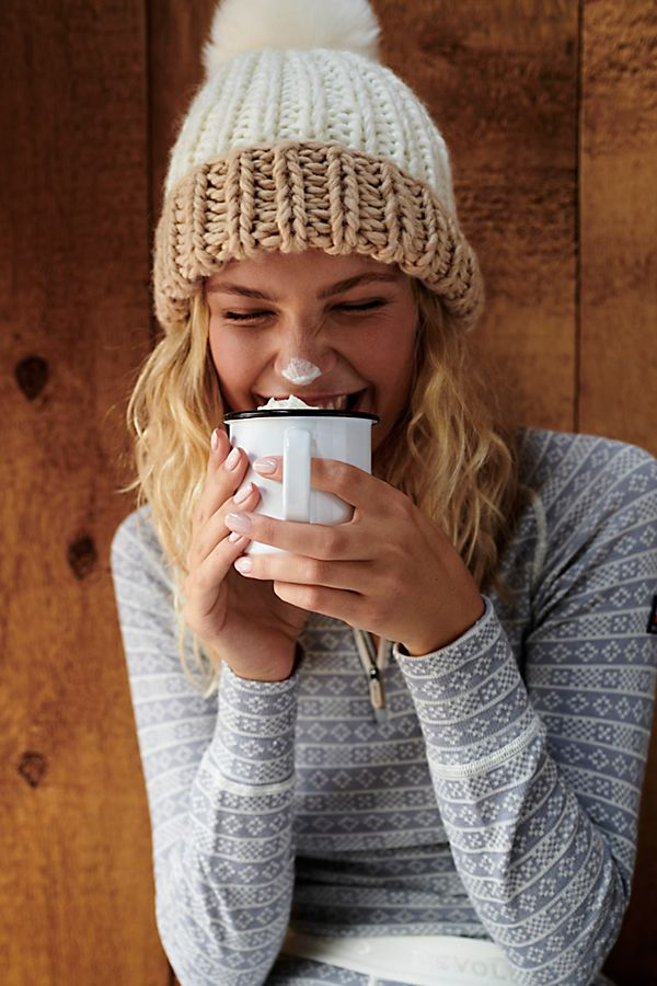 Color Block Pom Beanie | Free People