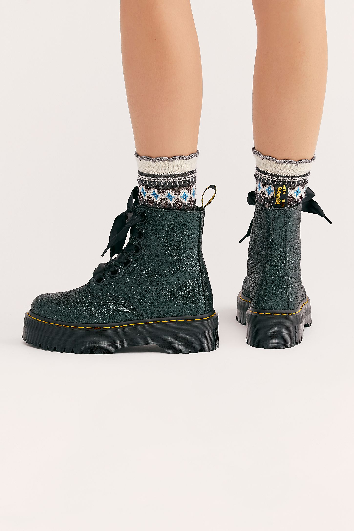 Slide View 4  Dr. Martens Molly Glitter 6 Eye Boot cb2a943286b9