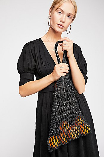 Crista Beach Net Leather Bag