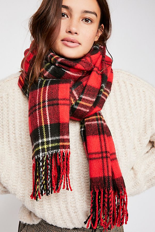 Bailey Brushed Plaid Scarf | Free People