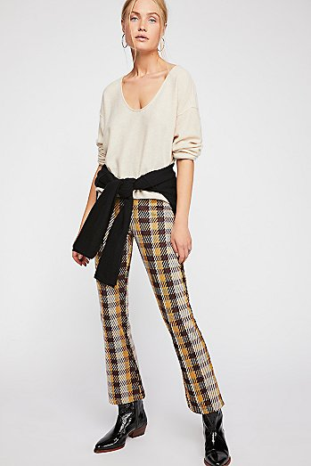 Clean Crop Flare Pants