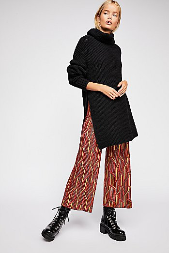 Alina A-Line Pull-On Wide Leg Pants