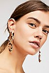 Thumbnail View 1: Zoe Stone Hoop Earrings