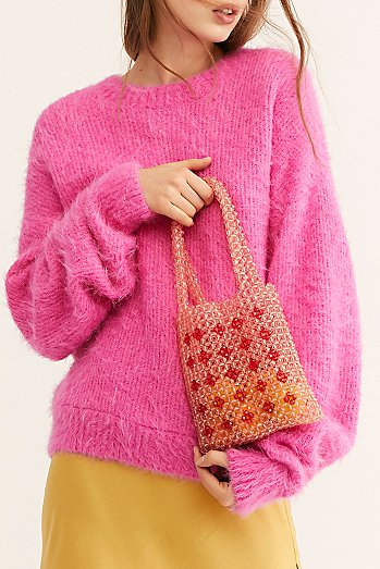 Beaded Mini Tote