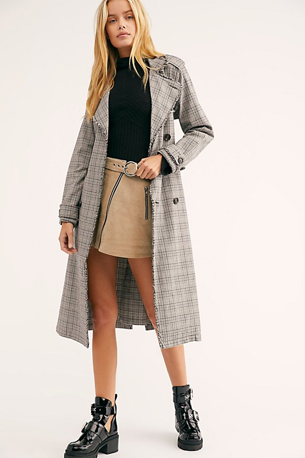 Slide View 1: Dorian Unlined Plaid Trench Coat