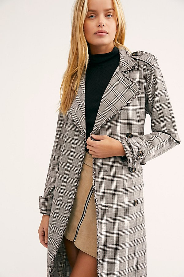 Slide View 2: Dorian Unlined Plaid Trench Coat