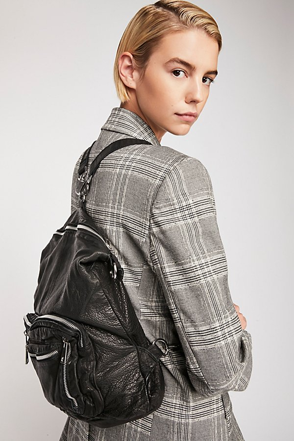 Slide View 1: Chelsea Convertible Leather Backpack