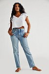 Thumbnail View 5: CRVY High-Rise Vintage Straight Jeans