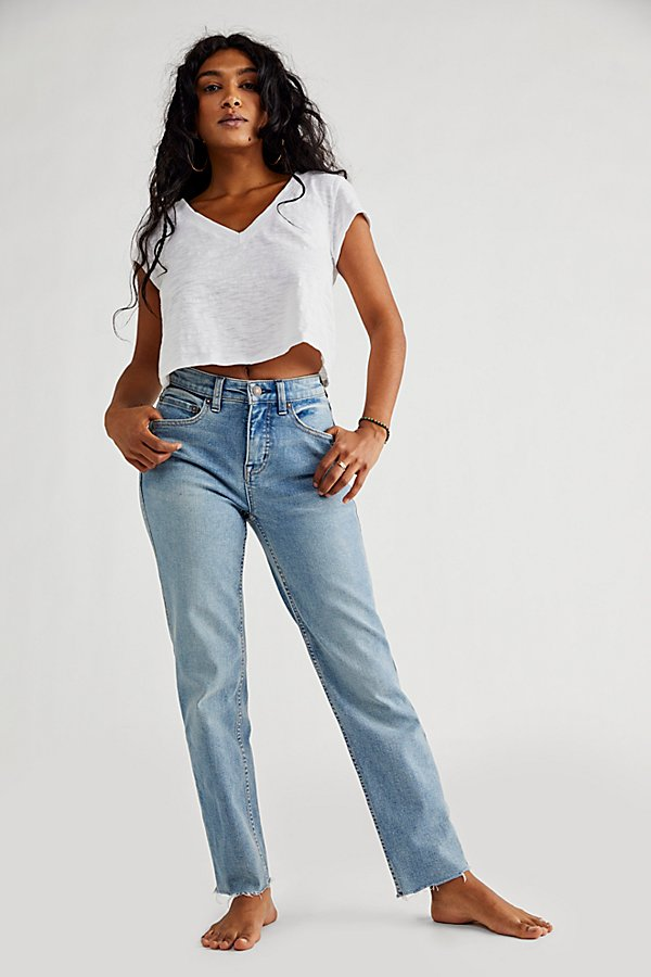 Slide View 5: CRVY High-Rise Vintage Straight Jeans
