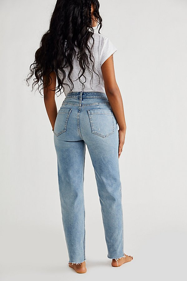 Slide View 6: CRVY High-Rise Vintage Straight Jeans